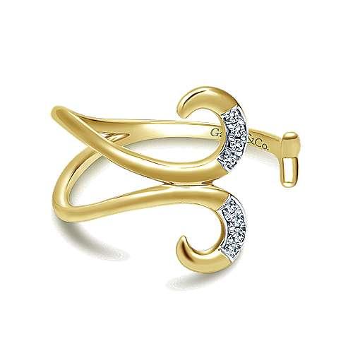 Gabriel - 14k Yellow Gold Midi Ladies' Ring