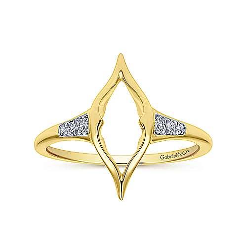14k Yellow Gold Diamond Midi Ladies