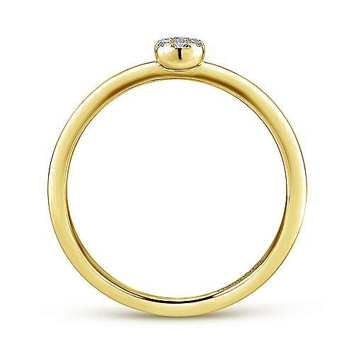 14k Yellow Gold Diamond Midi Ladies