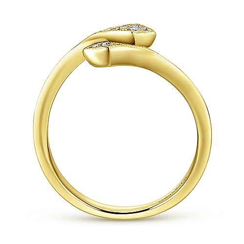 14k Yellow Gold Diamond Midi Ladies Ring angle 2
