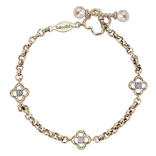 Gabriel - 14k Yellow Gold Secret Garden Chain Bracelet