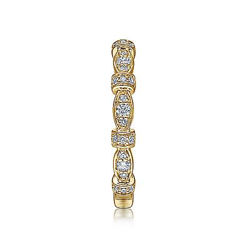14k Yellow Gold Diamond Stackable Ladies