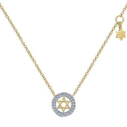 14k Yellow Gold Faith Star Of David