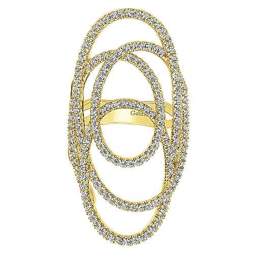 Gabriel - 14k Yellow Gold Lusso Diamond Statement Ladies' Ring