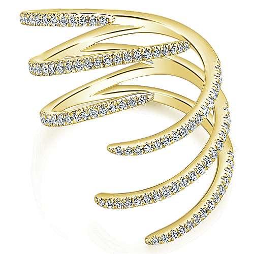 Gabriel - 14k Yellow Gold Kaslique Statement Ladies' Ring