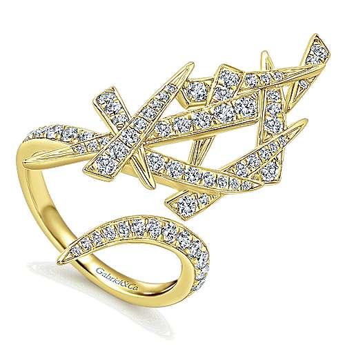 14k Yellow Gold Diamond Statement Ladies