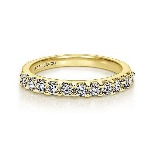 Gabriel - 14k Yellow Gold Contemporary Straight Anniversary Band
