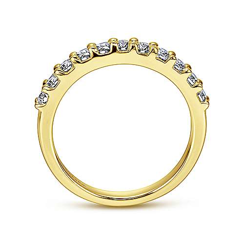 14k Yellow Gold Diamond Straight Anniversary Band angle 2