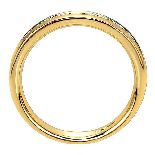 14k Yellow Gold Diamond Straight Anniversary Band angle 2