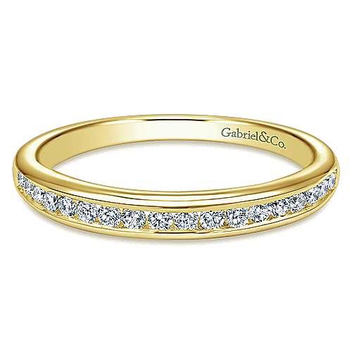 14k Yellow Gold Diamond Straight
