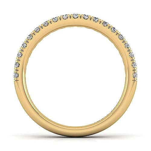 14k Yellow Gold Diamond Straight Wedding Band angle 2