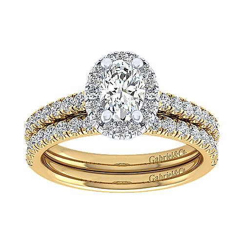 14k Yellow Gold Diamond Straight Wedding Band angle 4