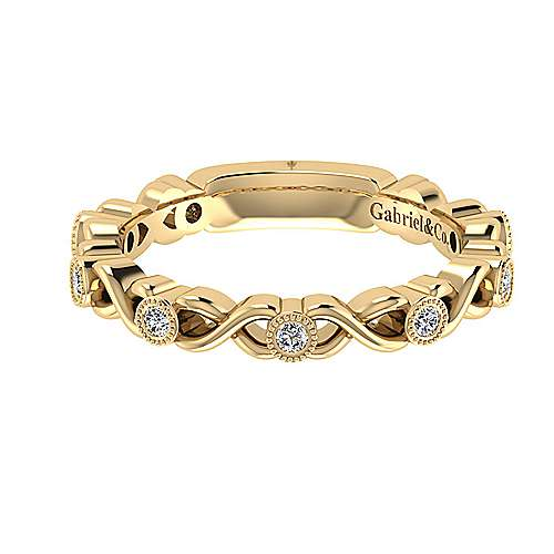 14k Yellow Gold Diamond Straight