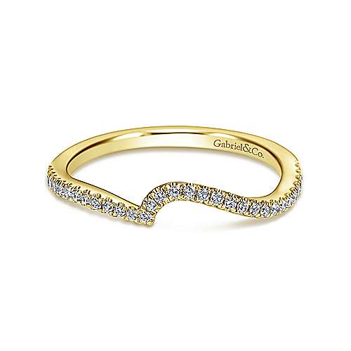 14k Yellow Gold Contemporary Straight