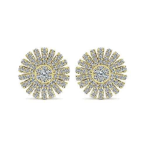 Gabriel - 14k Yellow Gold Stellare Stud Earrings