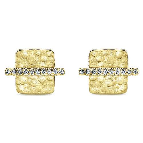 14k Yellow Gold Trends Stud