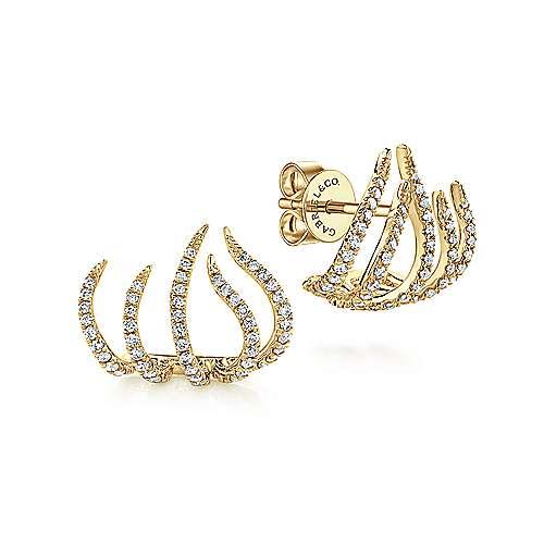 Gabriel - 14k Yellow Gold Kaslique Stud Earrings