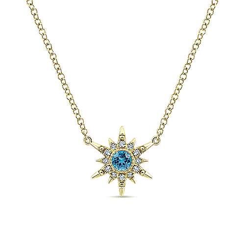 Gabriel - 14k Yellow Gold Stellare Fashion Necklace