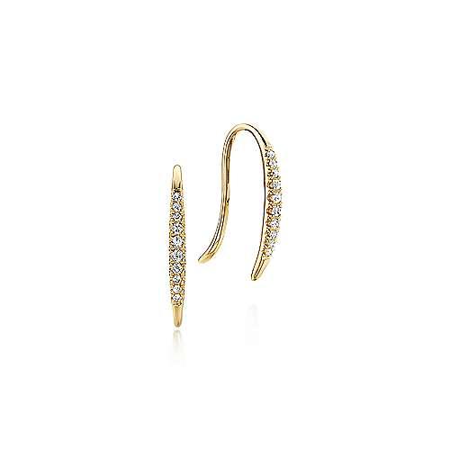 Gabriel - 14k Yellow Gold Ear Climber Earrings