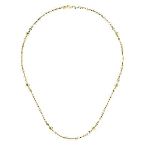 14k Yellow Gold Endless Diamonds Diamond By The Yard Necklace angle 2