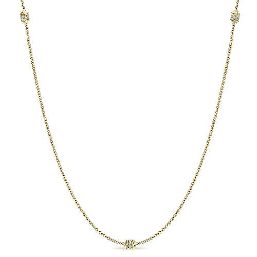 14k Yellow Gold Endless Diamonds Diamond By The Yard Necklace angle 1