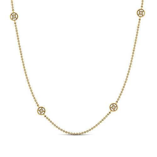 Gabriel - 14k Yellow Gold Endless Diamonds Station Necklace