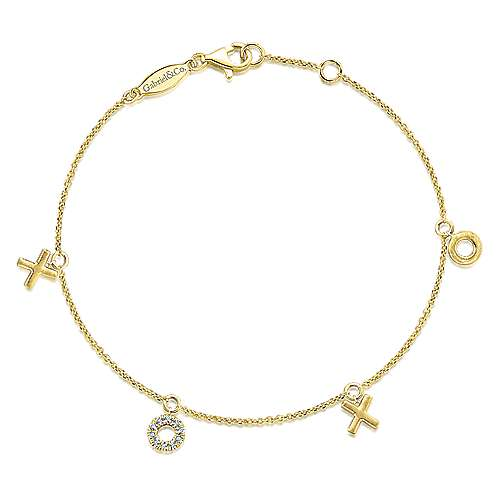 14k Yellow Gold Eternal Love Chain Bracelet