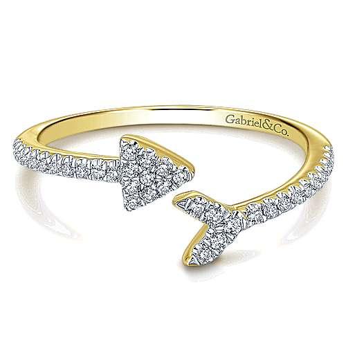14k Yellow Gold Eternal Love Fashion Ladies' Ring angle 1