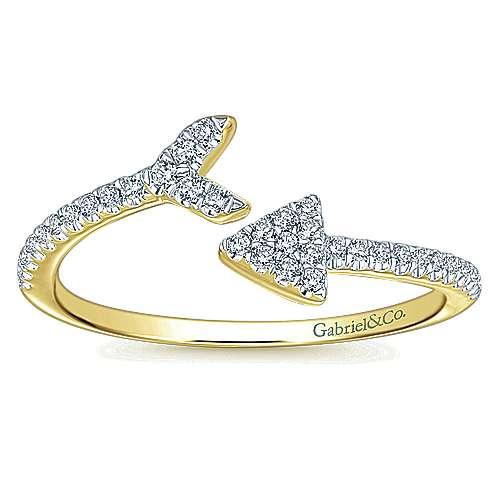 14k Yellow Gold Eternal Love Fashion Ladies' Ring angle 4