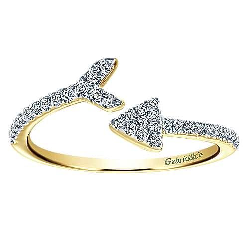 14k Yellow Gold Eternal Love Fashion Ladies' Ring angle 5