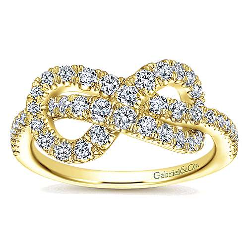 14k Yellow Gold Eternal Love Fashion Ladies' Ring angle 4