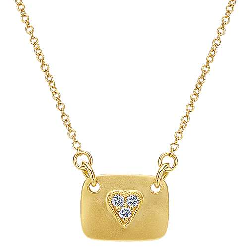 14k Yellow Gold Eternal Love Fashion Necklace angle 1