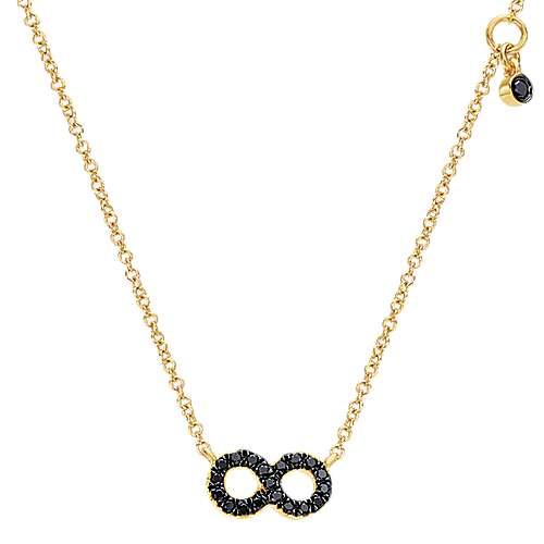 14k Yellow Gold Eternal Love Fashion Necklace