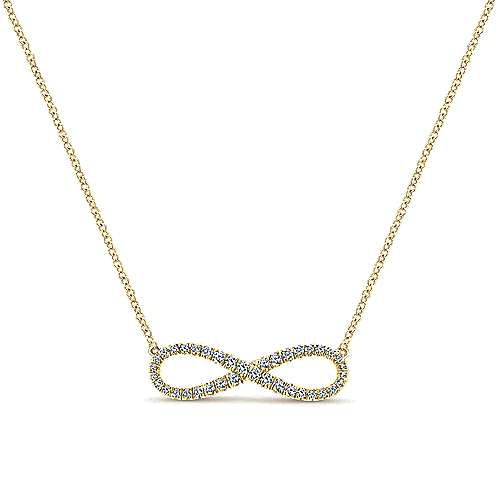 Gabriel - 14k Yellow Gold Eternal Love Fashion Necklace