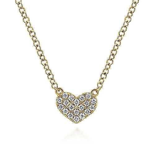 14k Yellow Gold Eternal Love Heart Necklace