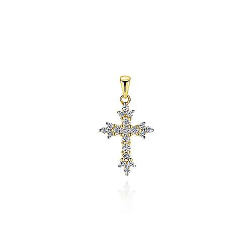 Gabriel - 14k Yellow Gold Faith Cross Cross Pendant