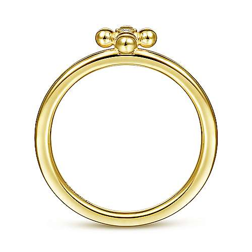 14k Yellow Gold Faith Cross Ladies' Ring angle 2