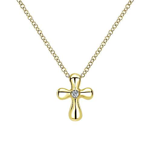 14k Yellow Gold  Cross