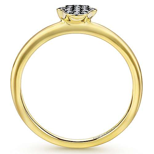 14k Yellow Gold Faith Hand Of God Ladies' Ring angle 2