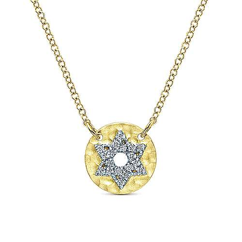 Gabriel - 14k Yellow Gold Faith Star Of David Necklace