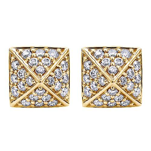 Gabriel - 14k Yellow Gold Fierce Stud Earrings