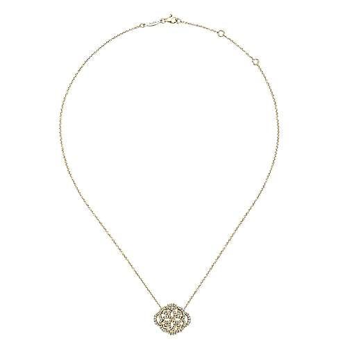 14k Yellow Gold Flirtation Fashion Necklace angle 2