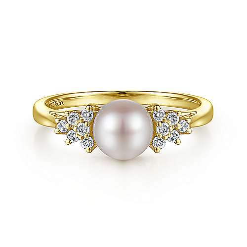 14k Yellow Gold Grace Classic Ladies' Ring angle 1