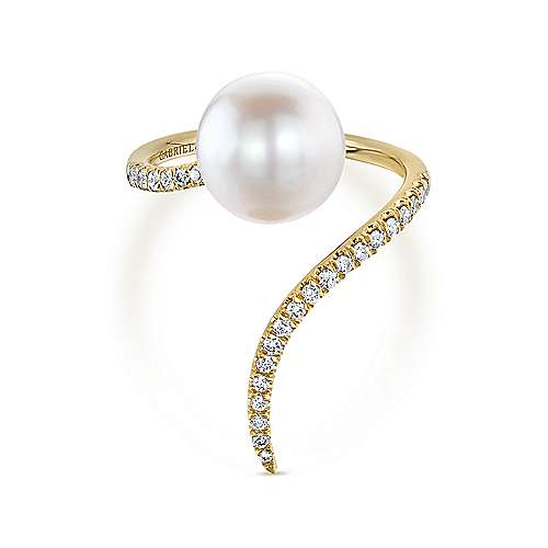 14k Yellow Gold Grace Fashion Ladies' Ring angle 1