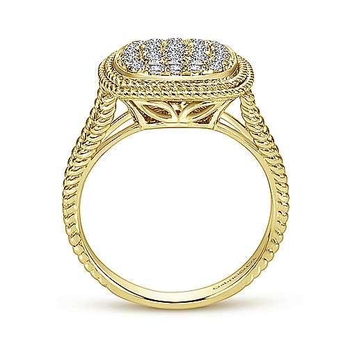 14k Yellow Gold Hampton Classic Ladies' Ring angle 2