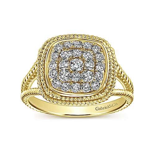 14k Yellow Gold Hampton Classic Ladies' Ring angle 4