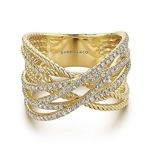 Gabriel - 14k Yellow Gold Hampton Fashion Ladies' Ring