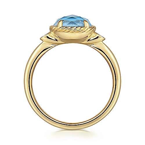 14k Yellow Gold Hampton Fashion Ladies' Ring angle 2