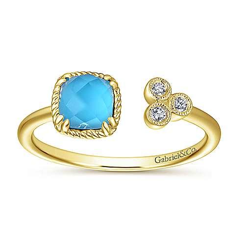 14k Yellow Gold Hampton Fashion Ladies' Ring angle 4
