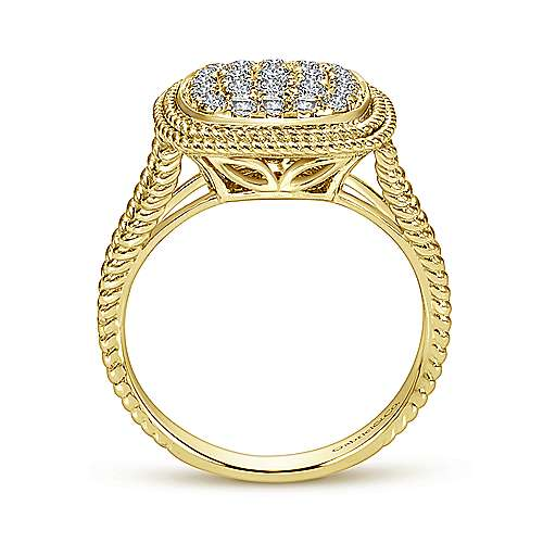 14k Yellow Gold Hampton Fashion Ladies' Ring angle 2